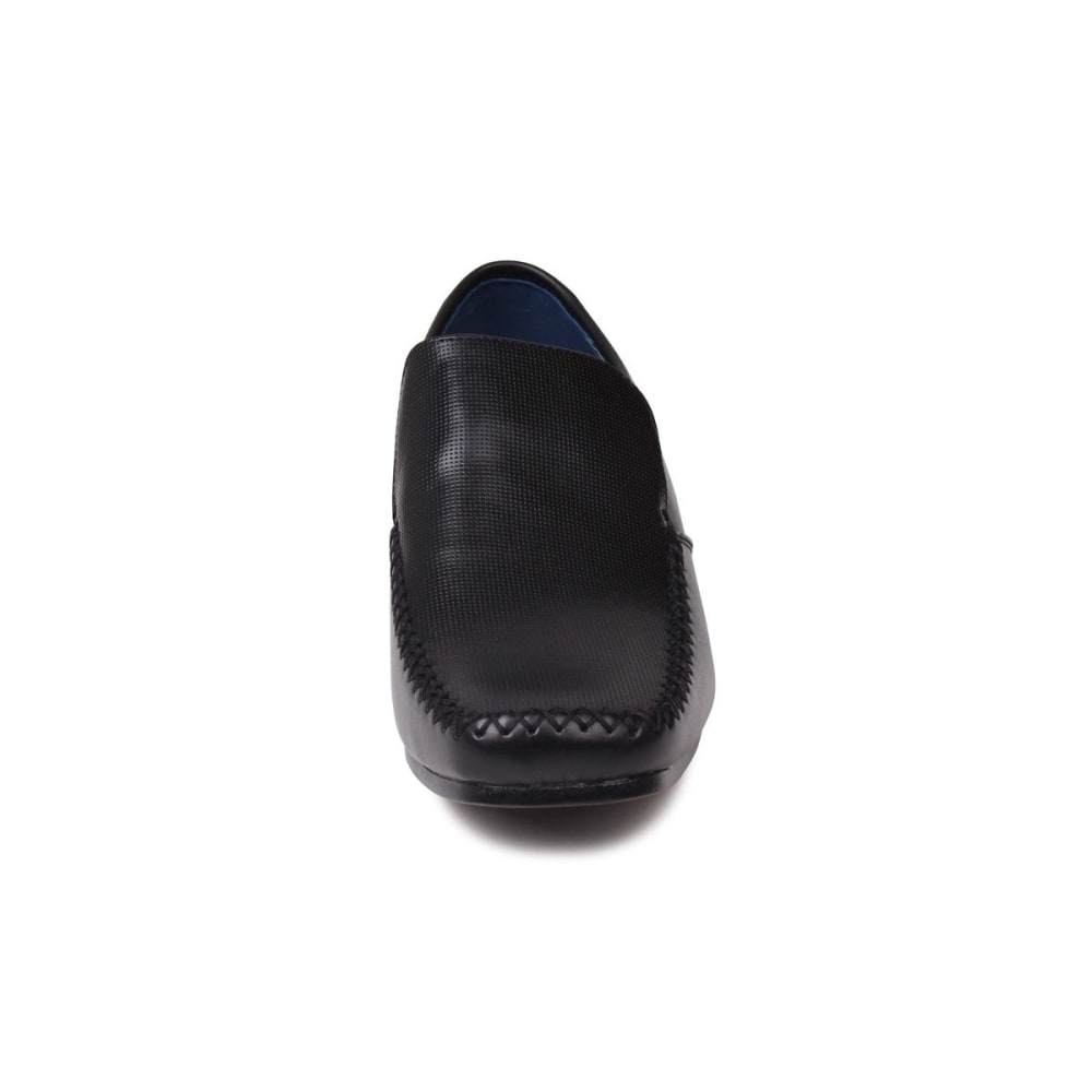 GIORGIO Men's Adams Perforated Slip-On Dress Shoes - BLACK
