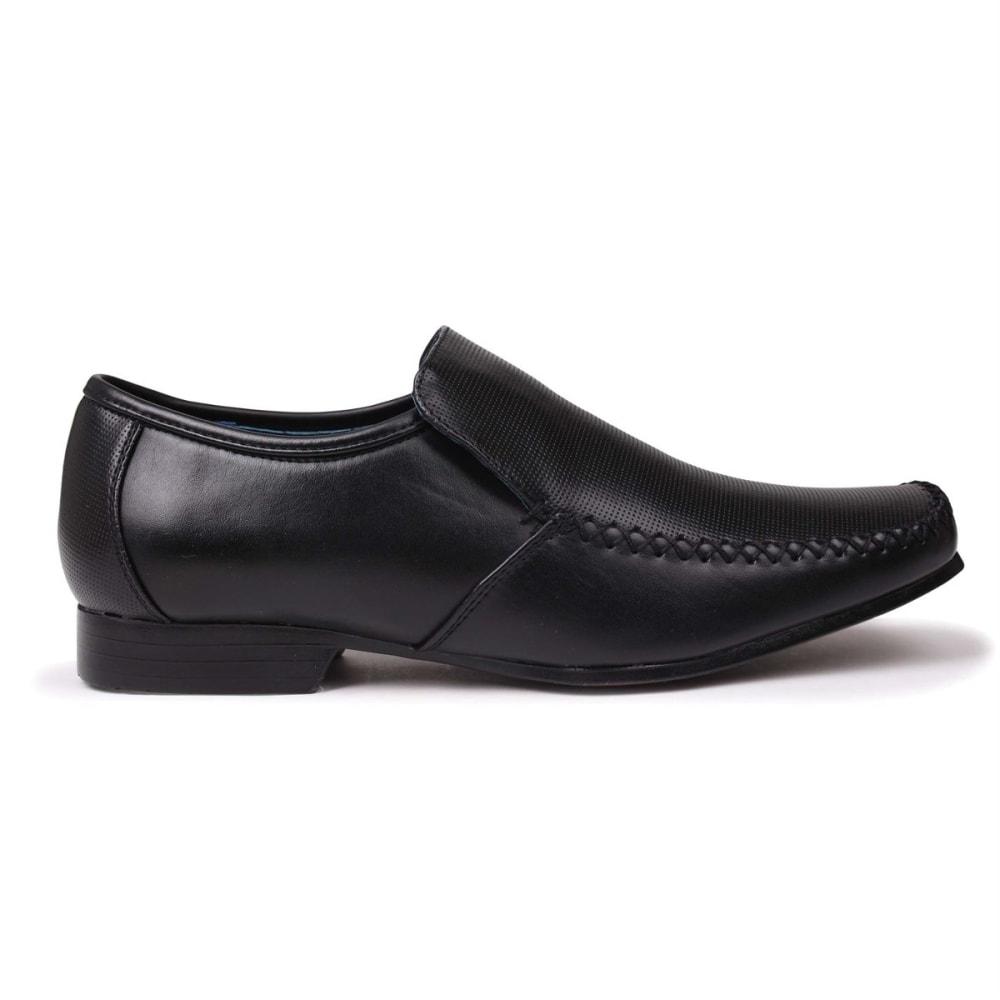 GIORGIO Men's Adams Perforated Slip-On Dress Shoes - BLACK