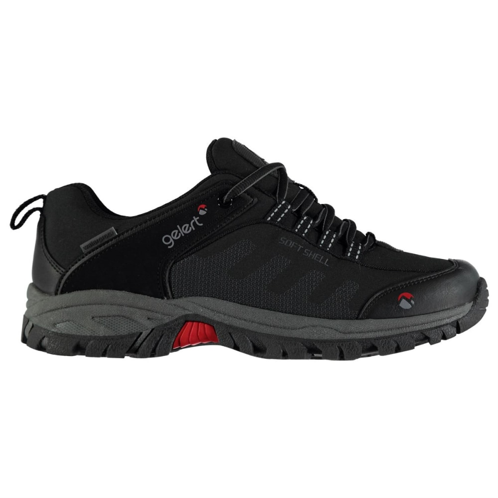 GELERT Men's Softshell Low Waterproof Hiking Shoes - BLACK