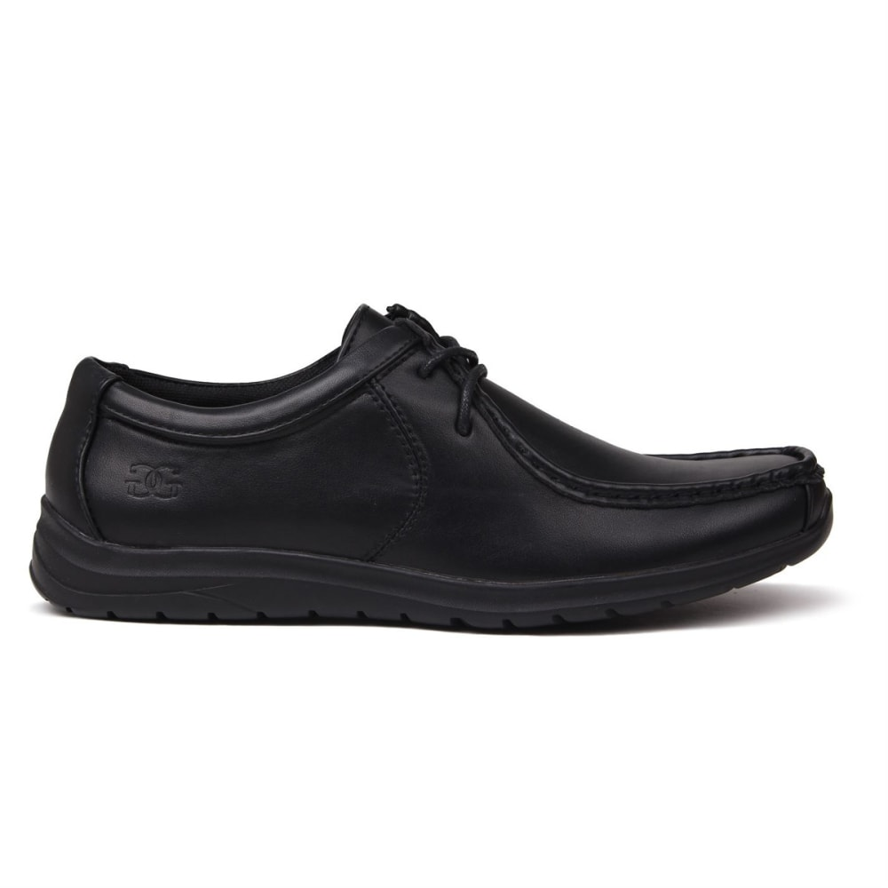 Giorgio Boys' Bexley Lace-Up Casual Shoes - Black, 4