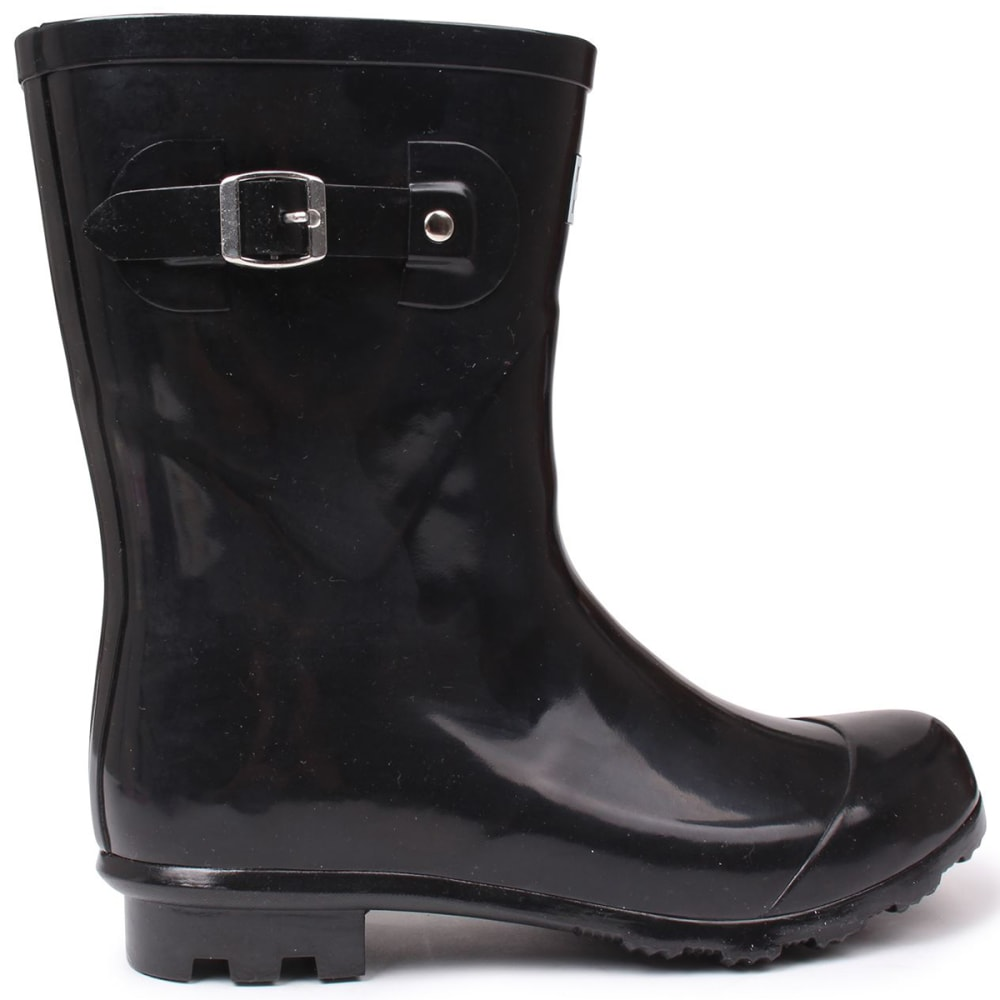 KANGOL Women's Low Rain Boots - BLACK