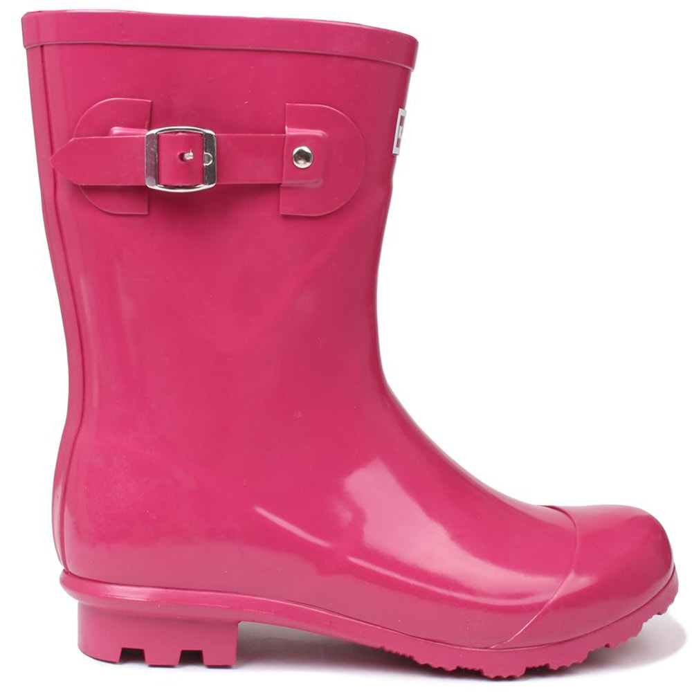 KANGOL Women's Low Rain Boots - BERRY