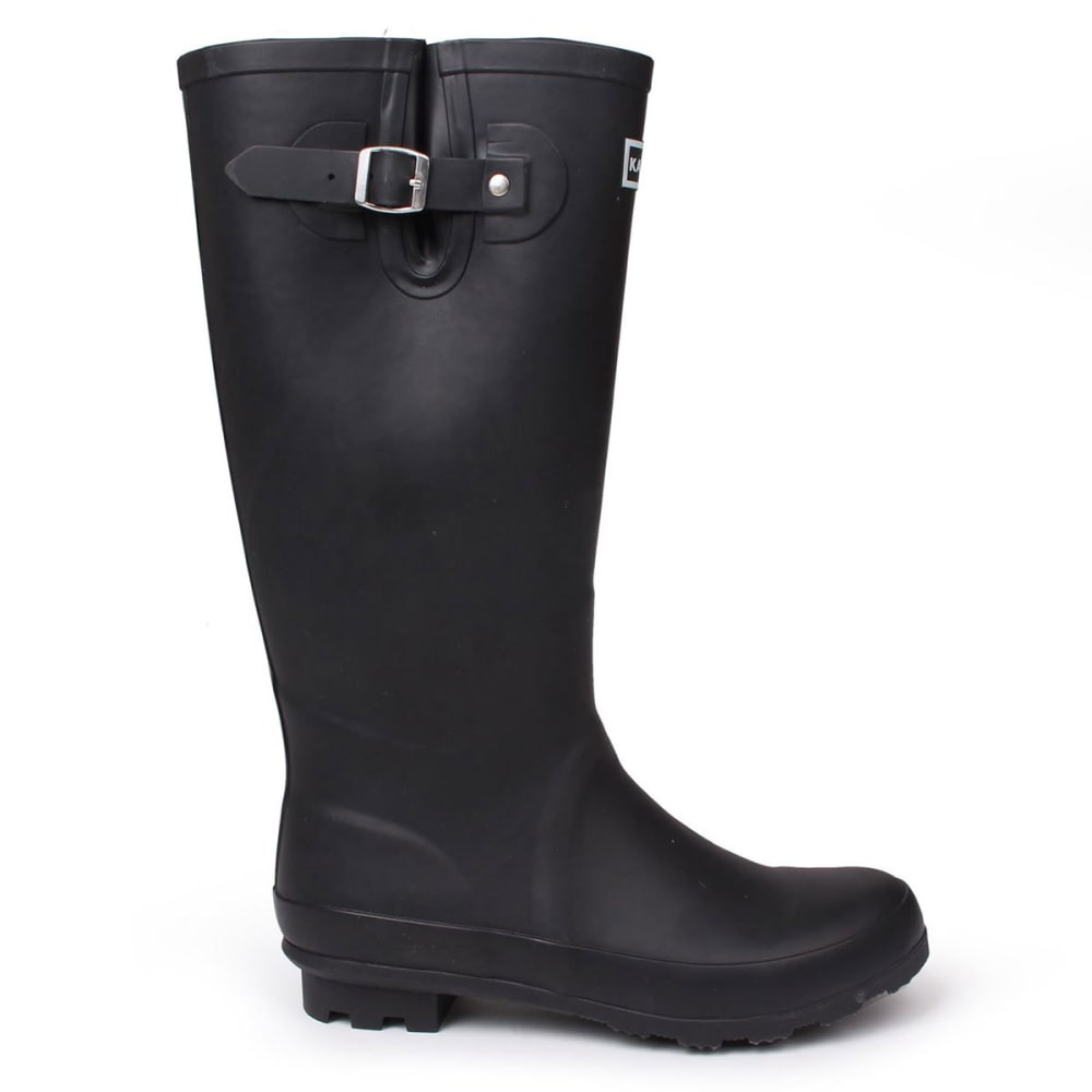 KANGOL Women's Tall Rain Boots - BLACK