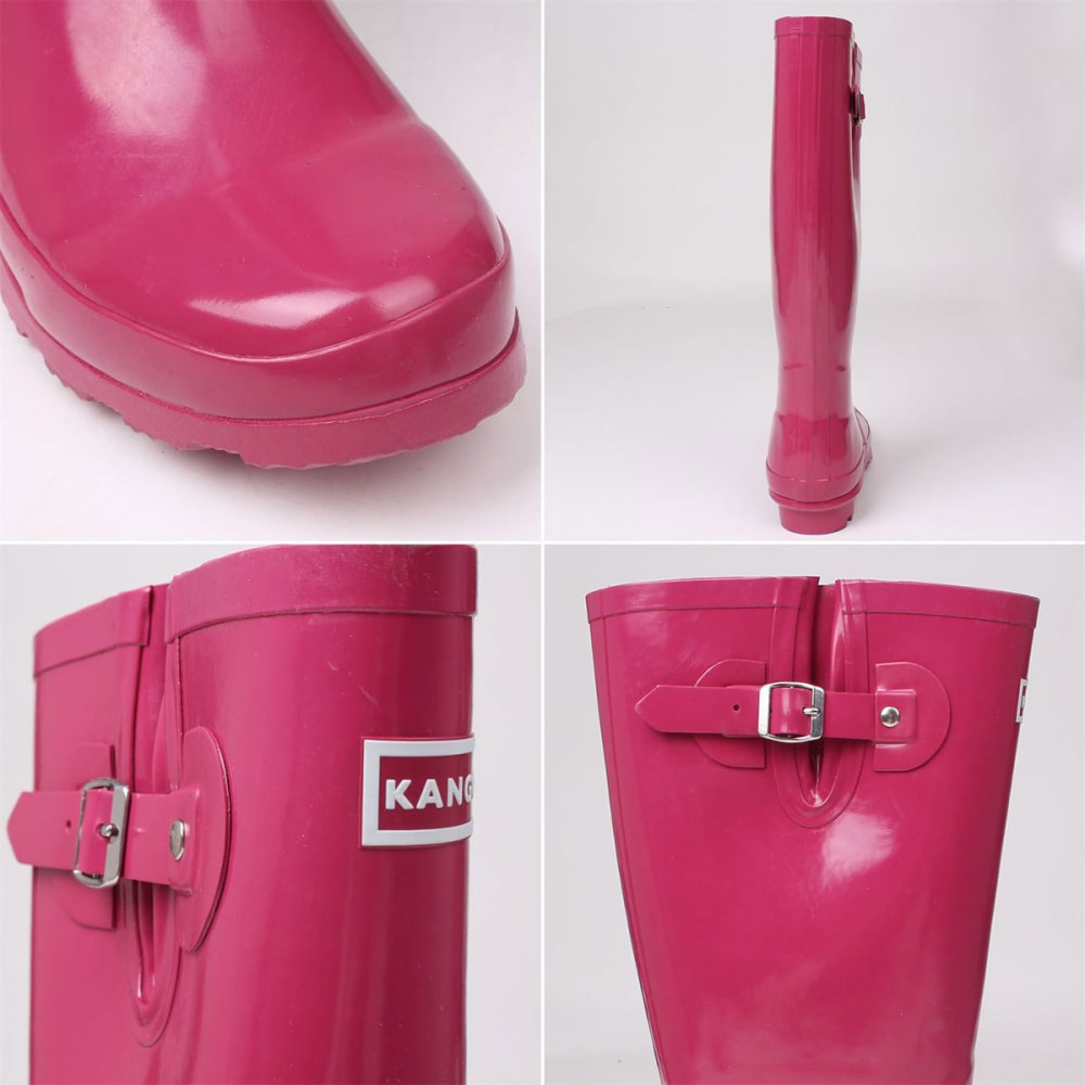 KANGOL Women's Tall Rain Boots - BERRY