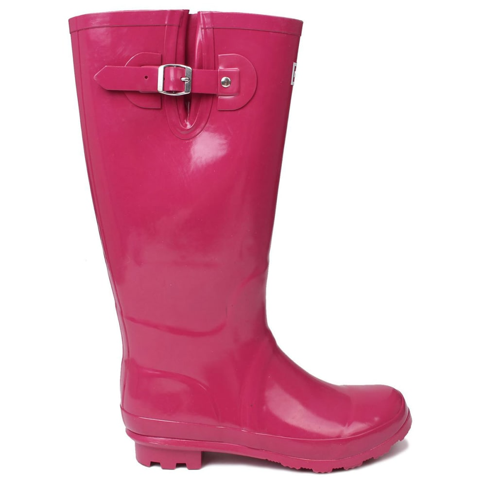 KANGOL Women's Tall Rain Boots - BERRY
