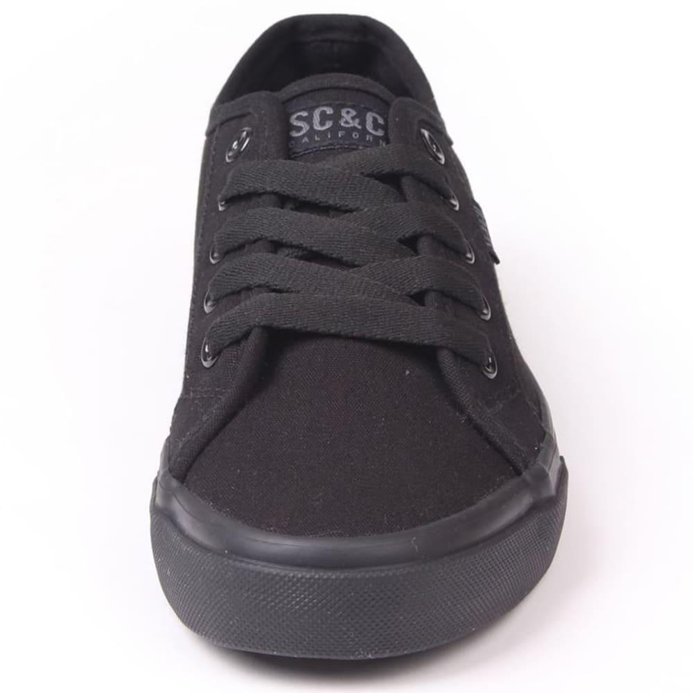 SOULCAL Women's Sunrise Canvas Sneakers - BLACK/BLACK