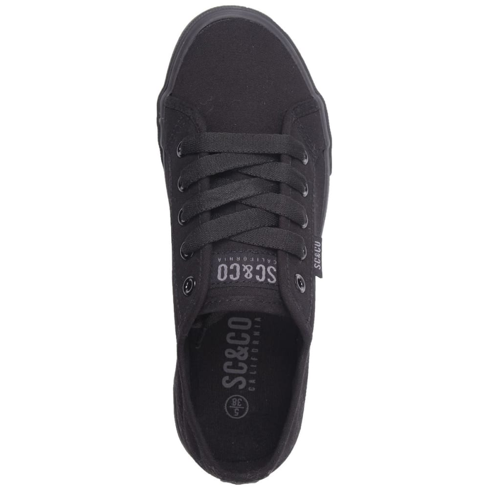 SOULCAL Women's Sunrise Canvas Sneakers - BLACK/BLACK