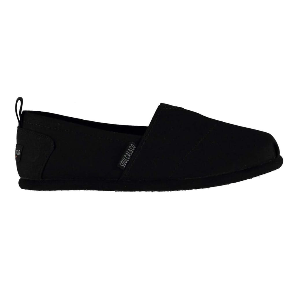Soulcal Women's Long Beach Canvas Slip-On Casual Shoes - Black, 11