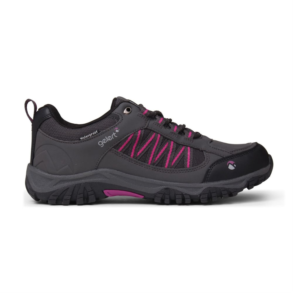 GELERT Women's Horizon Low Waterproof Hiking Shoes - CHARCOAL