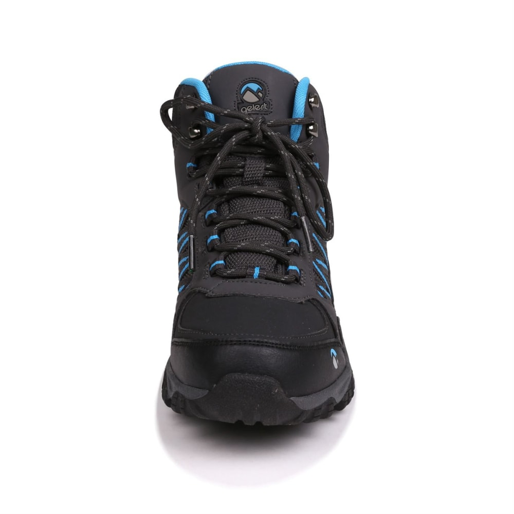 GELERT Kids' Horizon Mid Waterproof Hiking Boots - CHARCOAL/BLUE
