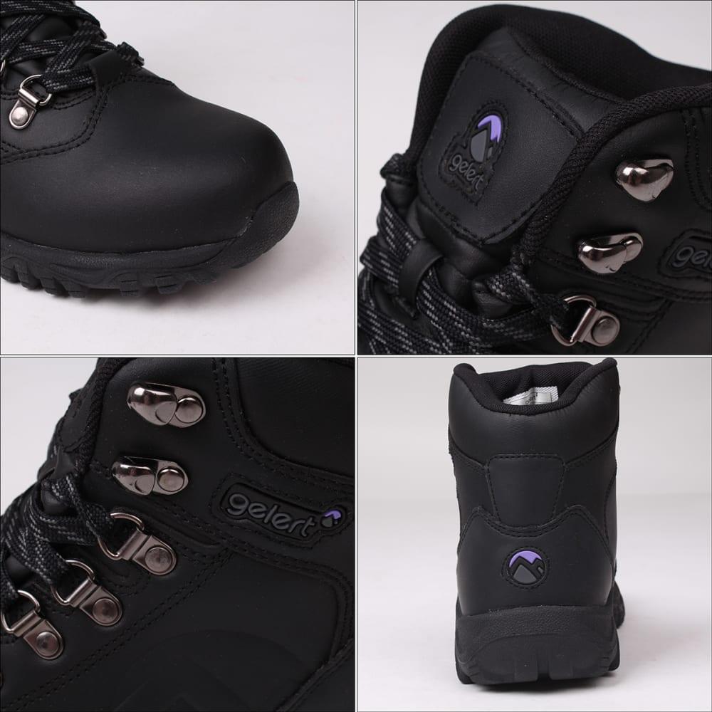 GELERT Women's Leather Mid Hiking Boots - BLACK