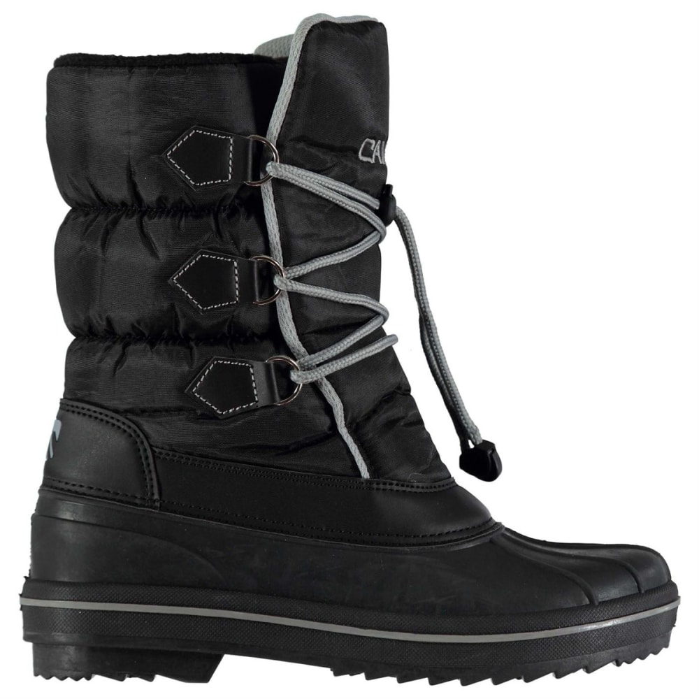 CAMPRI Kids' Snow Drift Waterproof Insulated Snow Boots - BLACK/GREY