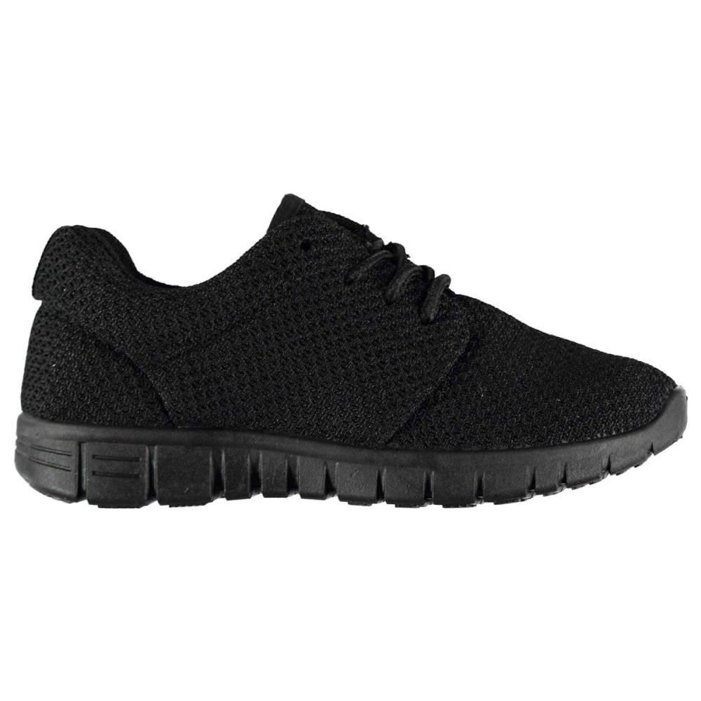 FABRIC Kids' Mercy Running Shoes - BLACK/BLACK