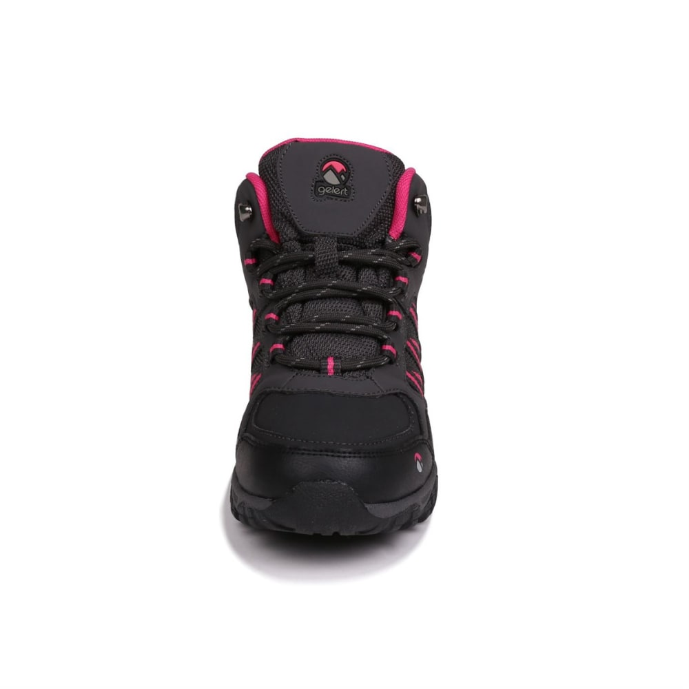 GELERT Kids' Horizon Mid Waterproof Hiking Boots - CHARCOAL/PINK
