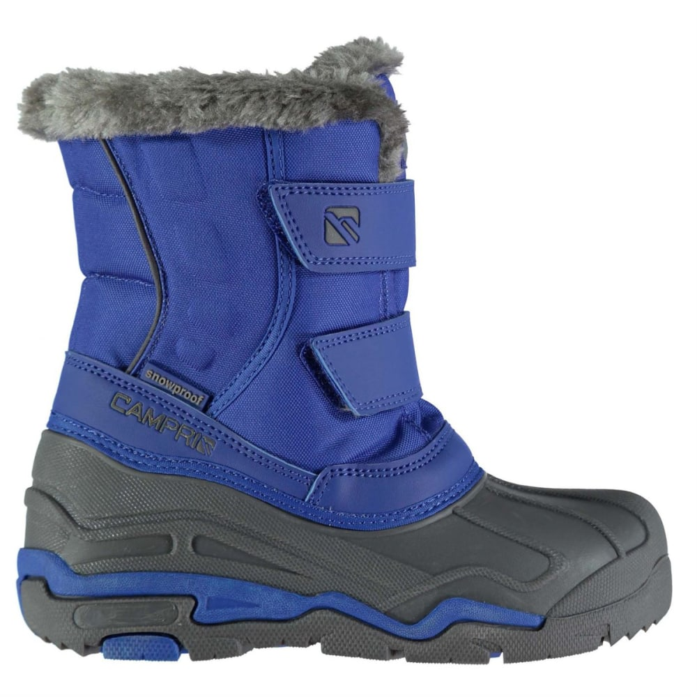 Campri Kids Waterproof Snow Boots - Blue, 11