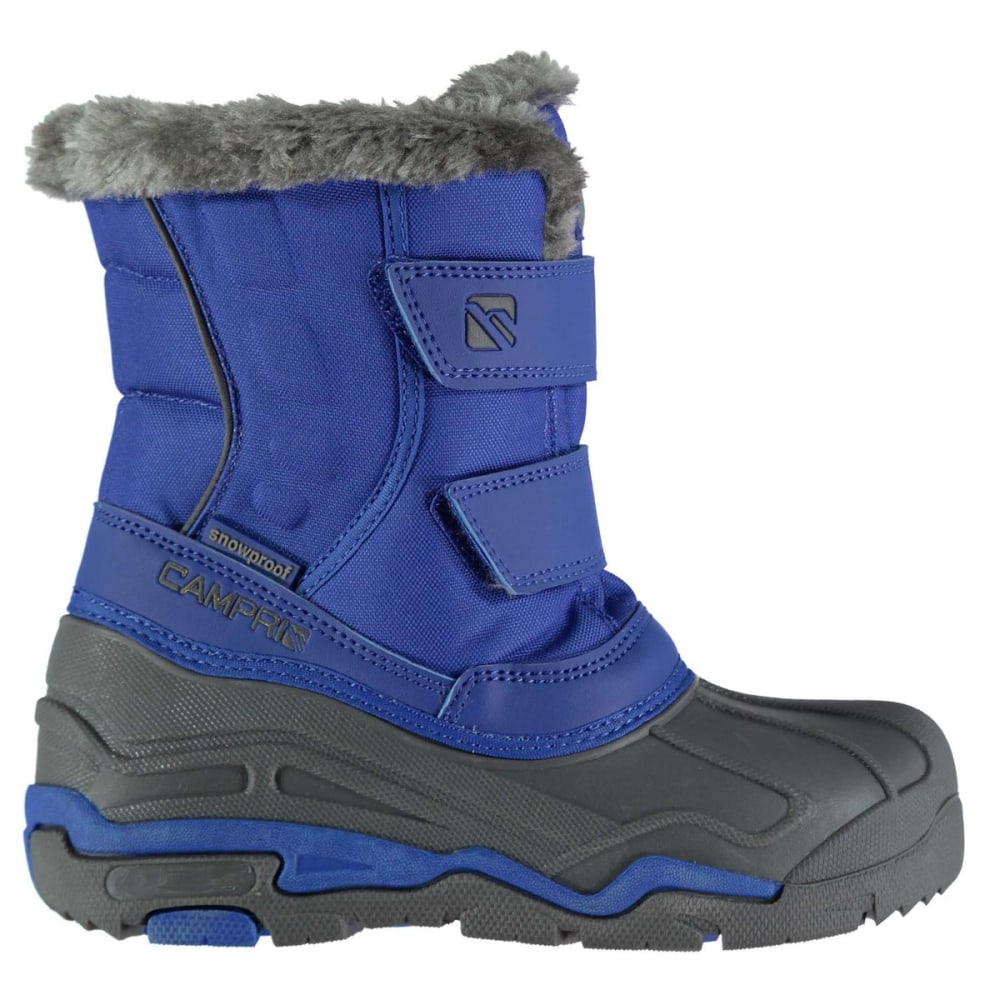 Campri Kids Waterproof Snow Boots - Blue, 8