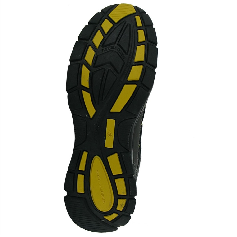 DUNLOP Men's Safety Iowa Steel Toe Work Shoes - CHARCOAL/YELLOW