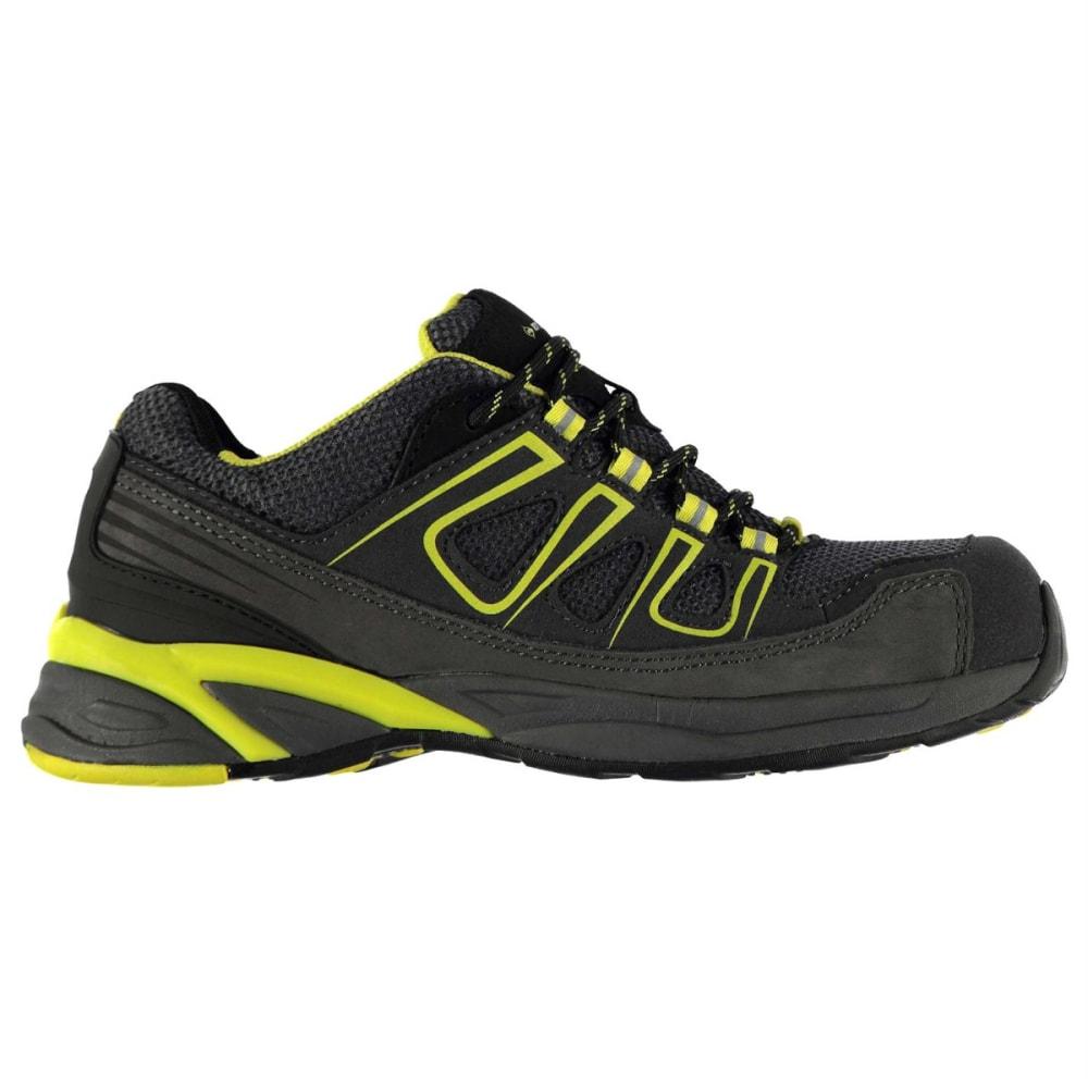 DUNLOP Men's Oregon Steel Toe Work Shoes - CHARCOAL/YELLOW