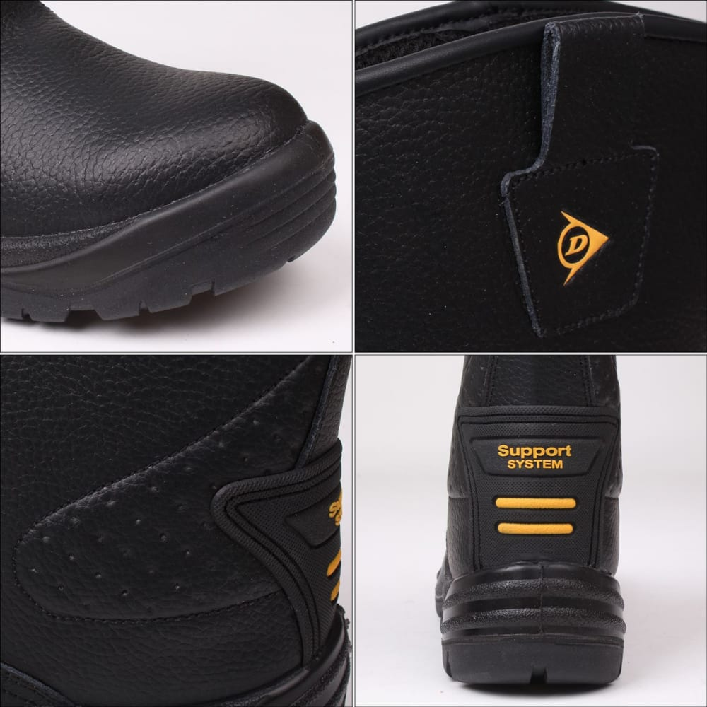DUNLOP Men's Safety Rigger Waterproof Steel Toe Work Boots - BLACK