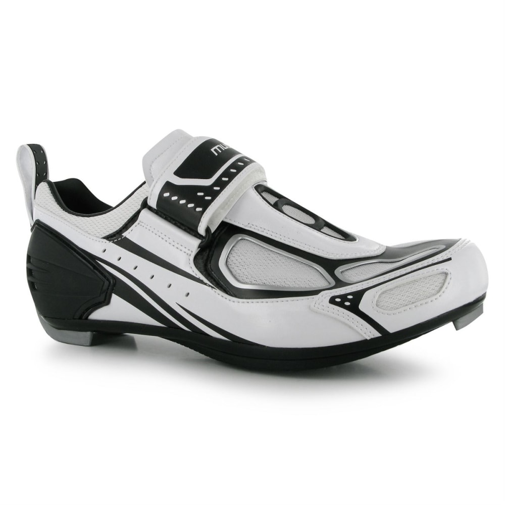 MUDDYFOX Men's TRI100 Cycling Shoes - WHITE/BLACK