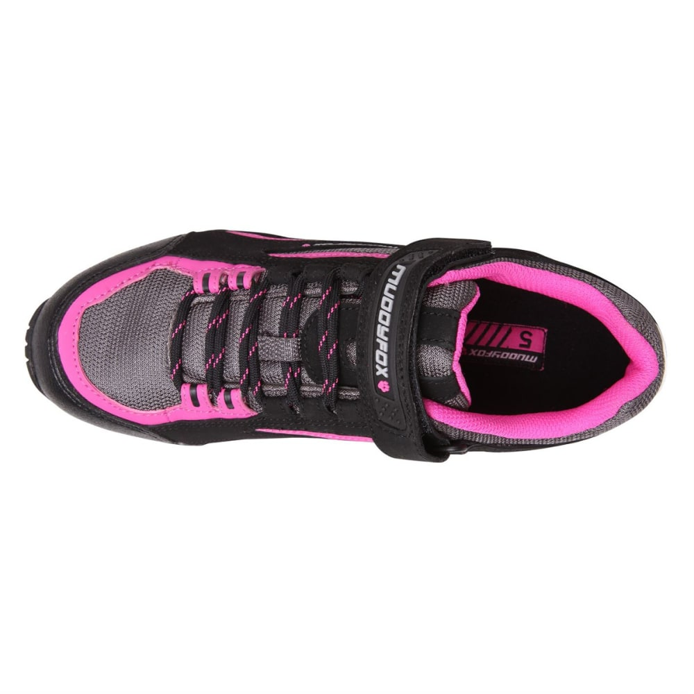 MUDDYFOX Women's TOUR 100 Low Cycling Shoes - Black/Char/Pink