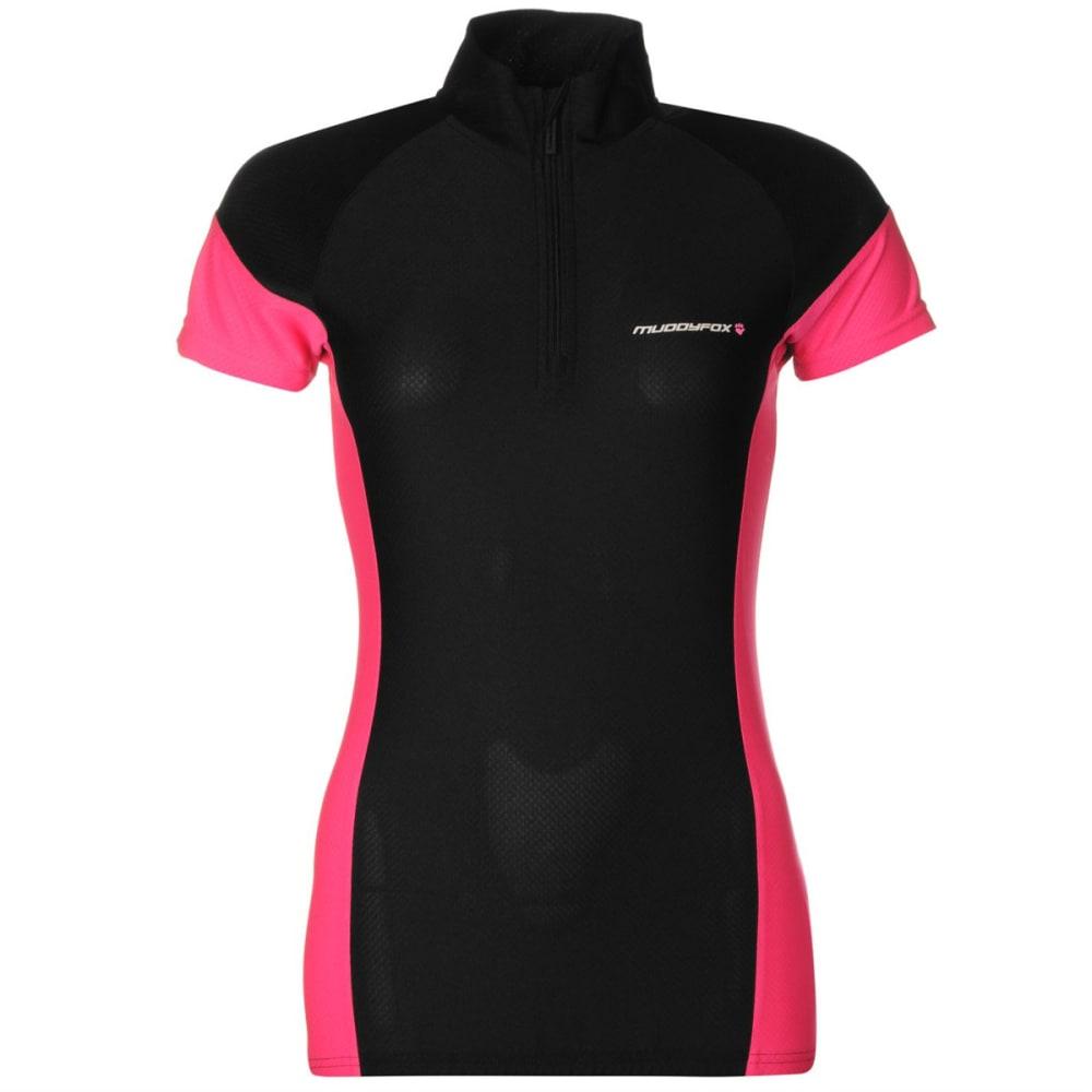 MUDDYFOX Women's Cycling Short-Sleeve Jersey - BLACK/PINK