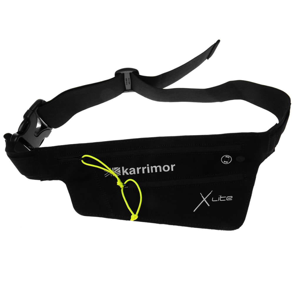 KARRIMOR X Lite Audio Running Belt - BLACK