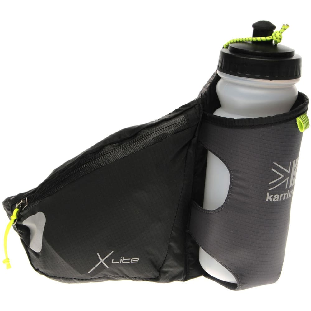 KARRIMOR X Lite Running Belt and Bottle - BLACK