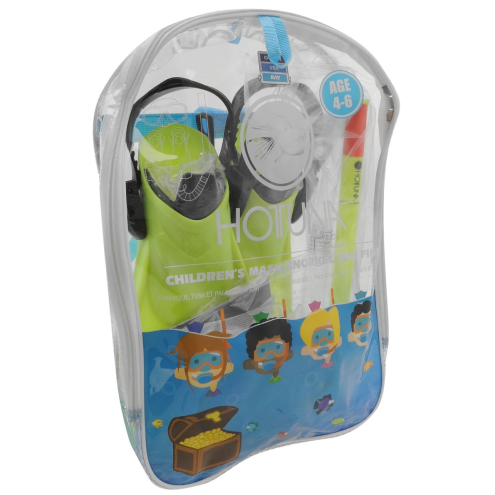 HOT TUNA Kids' Snorkel Fin and Mask Set - YELLOW