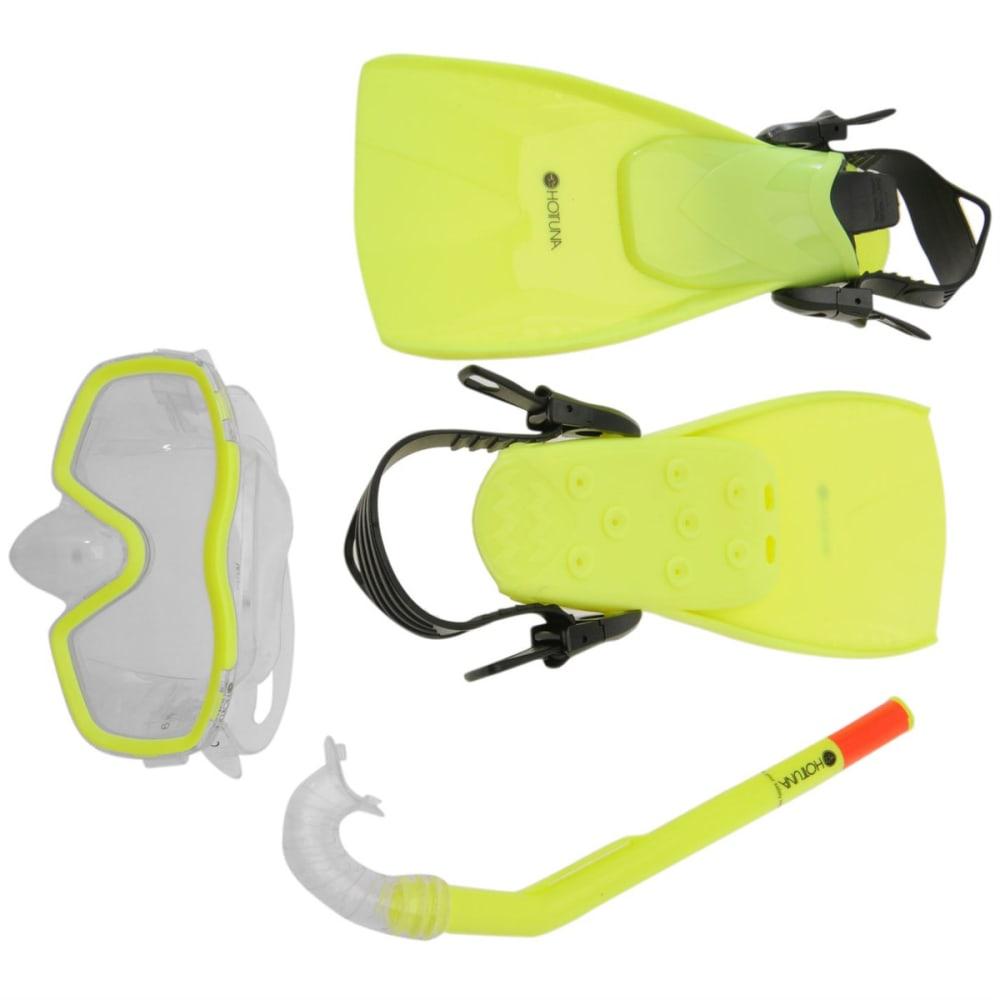 HOT TUNA Kids' Snorkel, Fin, and Mask Set - YELLOW