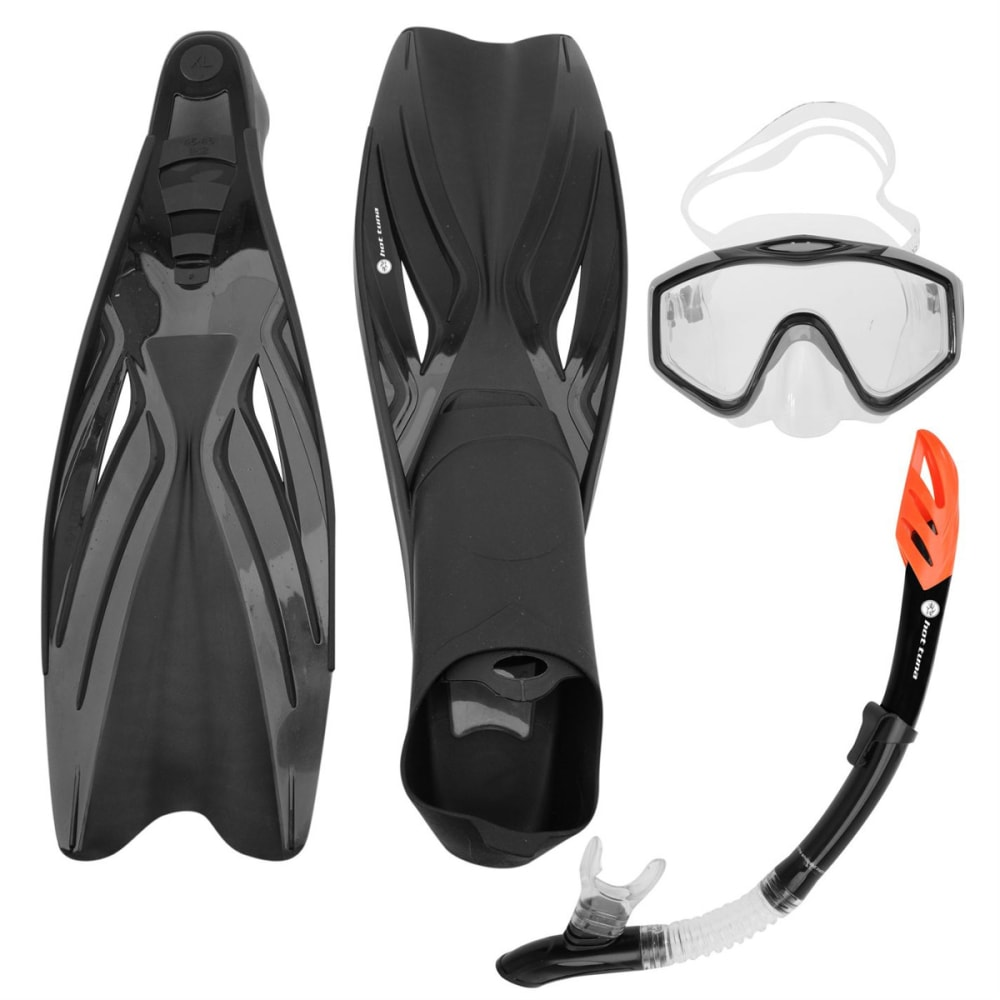 HOT TUNA Mask Snorkel Fin Set - BLACK