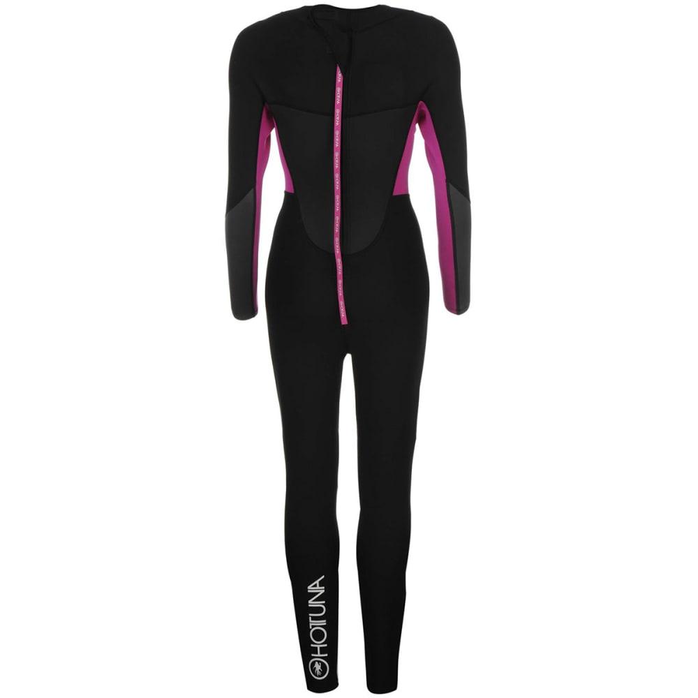 HOT TUNA Women's 2.5mm Full Wetsuit - Black/Acid Pink