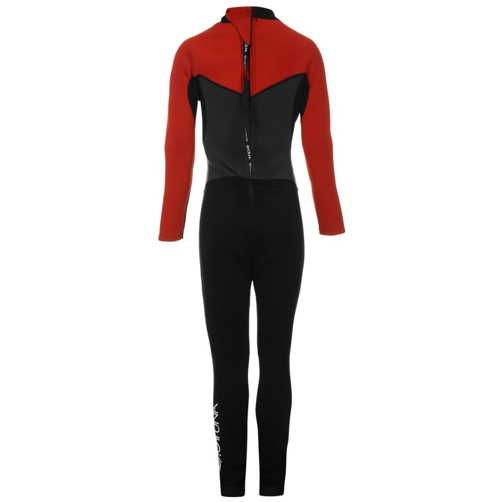 HOT TUNA Boys' 2.5mm Full Wetsuit - BLACK/RED