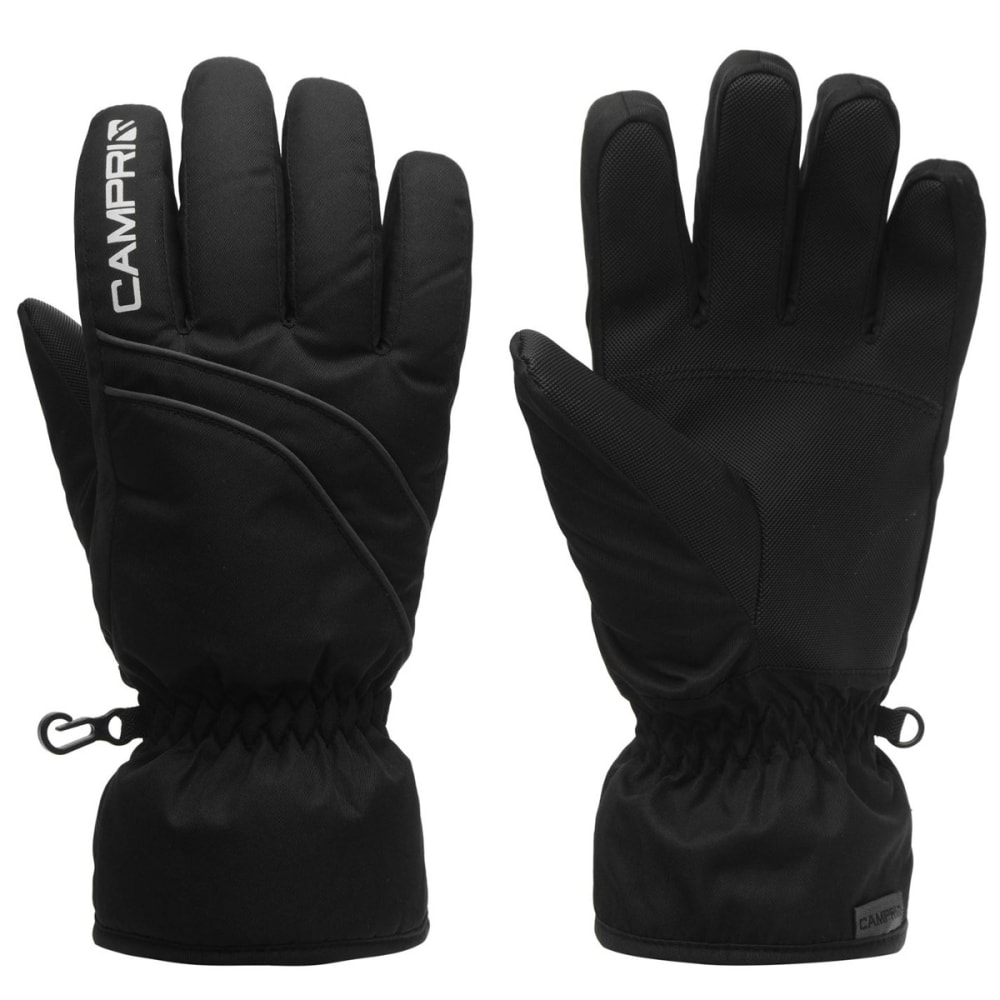 CAMPRI Kids' Ski Gloves - BLACK