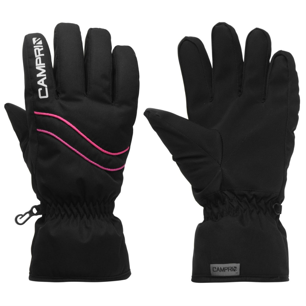 CAMPRI Women's Ski Gloves - BLACK