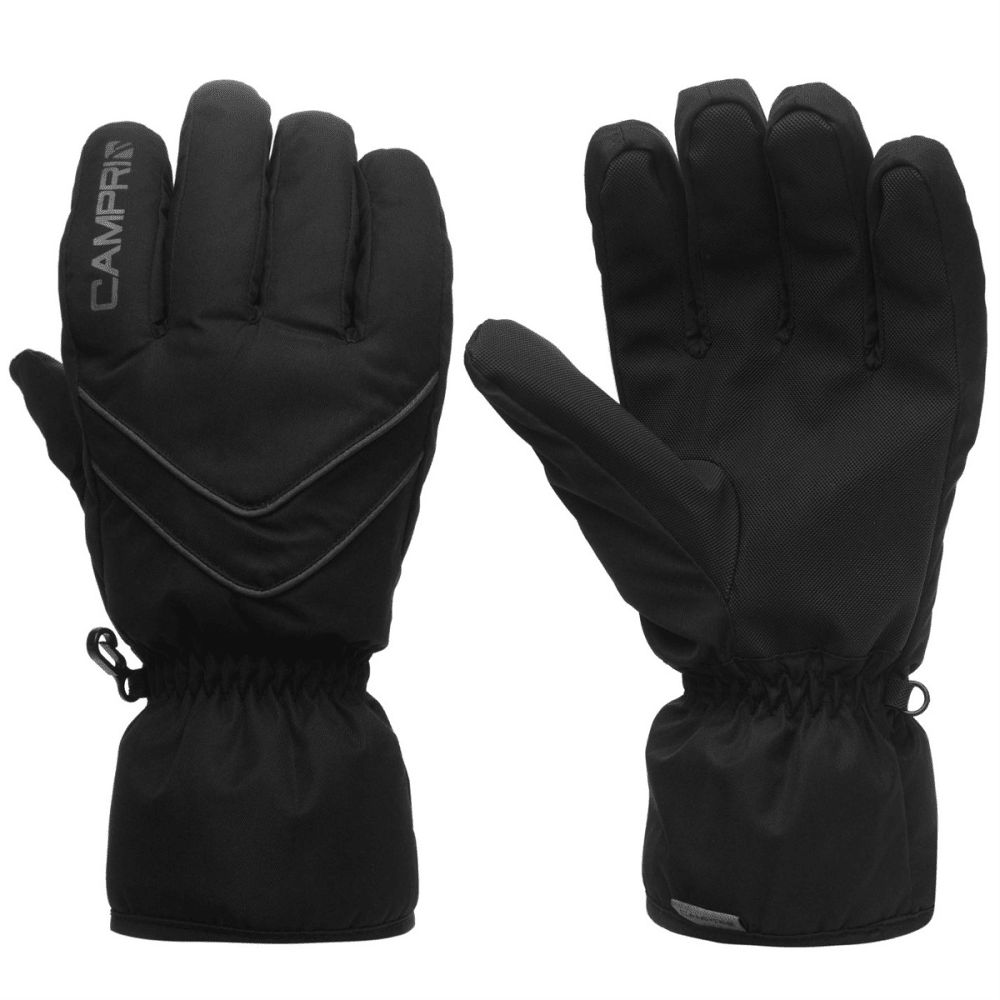 CAMPRI Men's Ski Gloves - BLACK