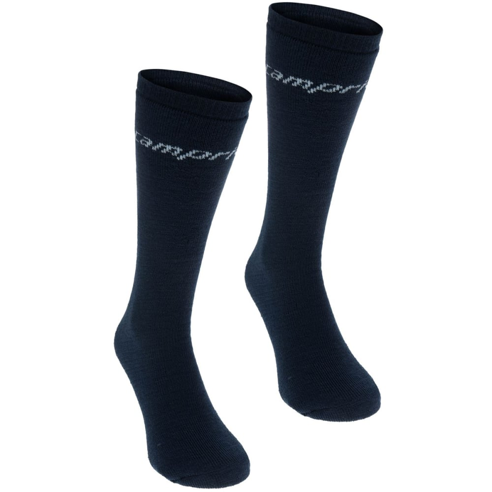 Campri Women's Ski Tube Socks, 2-Pack - Blue, 6-10