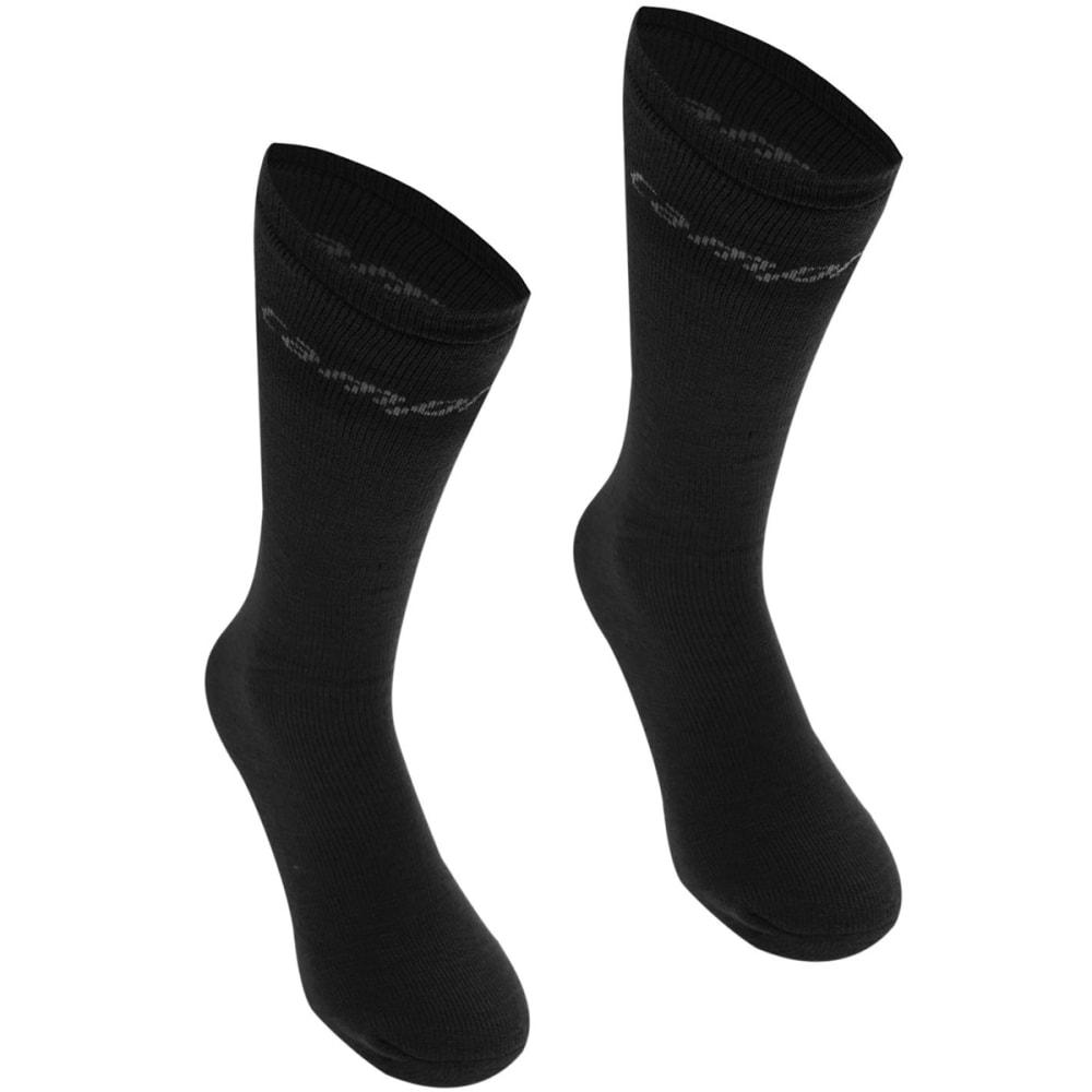 CAMPRI Men's Ski Tube Socks, 2-Pack - BLACK