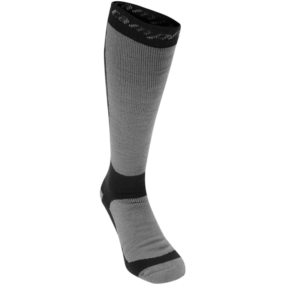 CAMPRI Men's Snow Socks, 2-Pack - BLACK/GREY