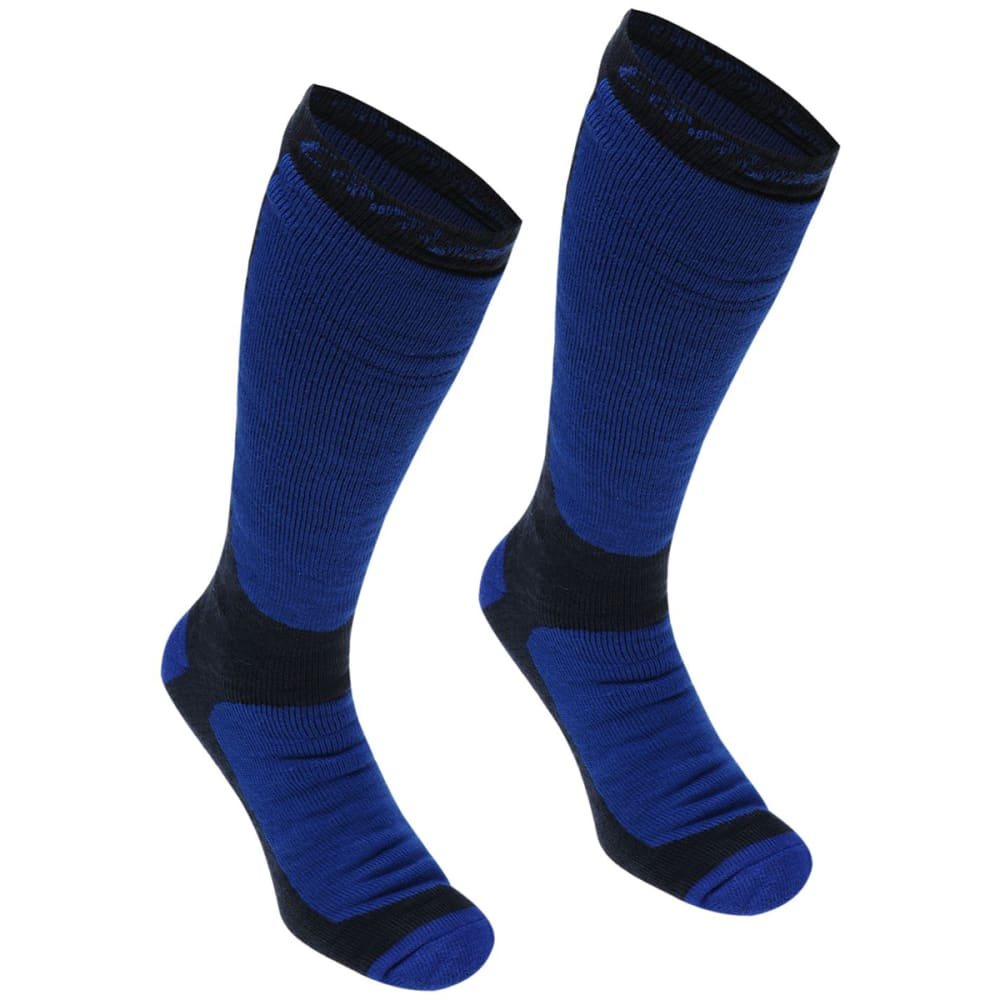 Campri Men's Snow Socks, 2-Pack - Blue, 8-12