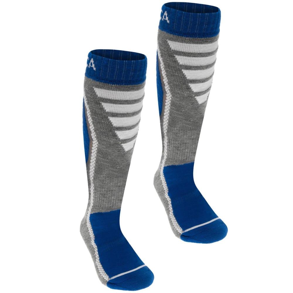 NEVICA Big Kids' Pro Ski Socks, 2-Pack - ROYAL/GREY
