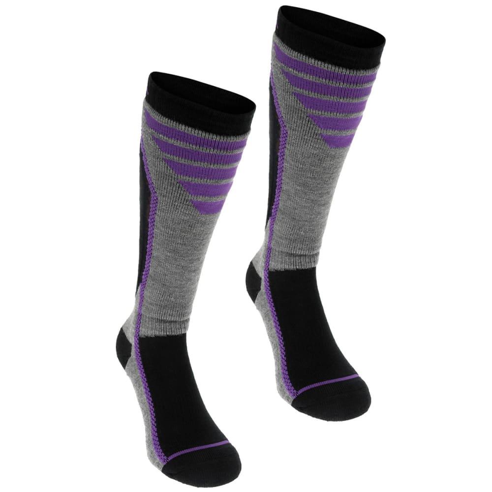 NEVICA Women's Pro Ski Socks, 2-Pack - BLACK/PURPLE