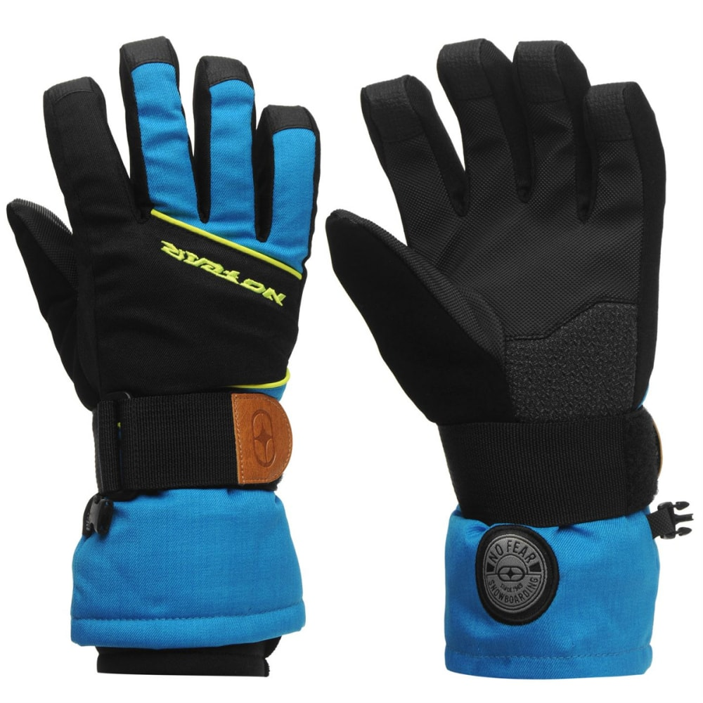 NO FEAR Kids' Boost Ski Gloves - BLACK