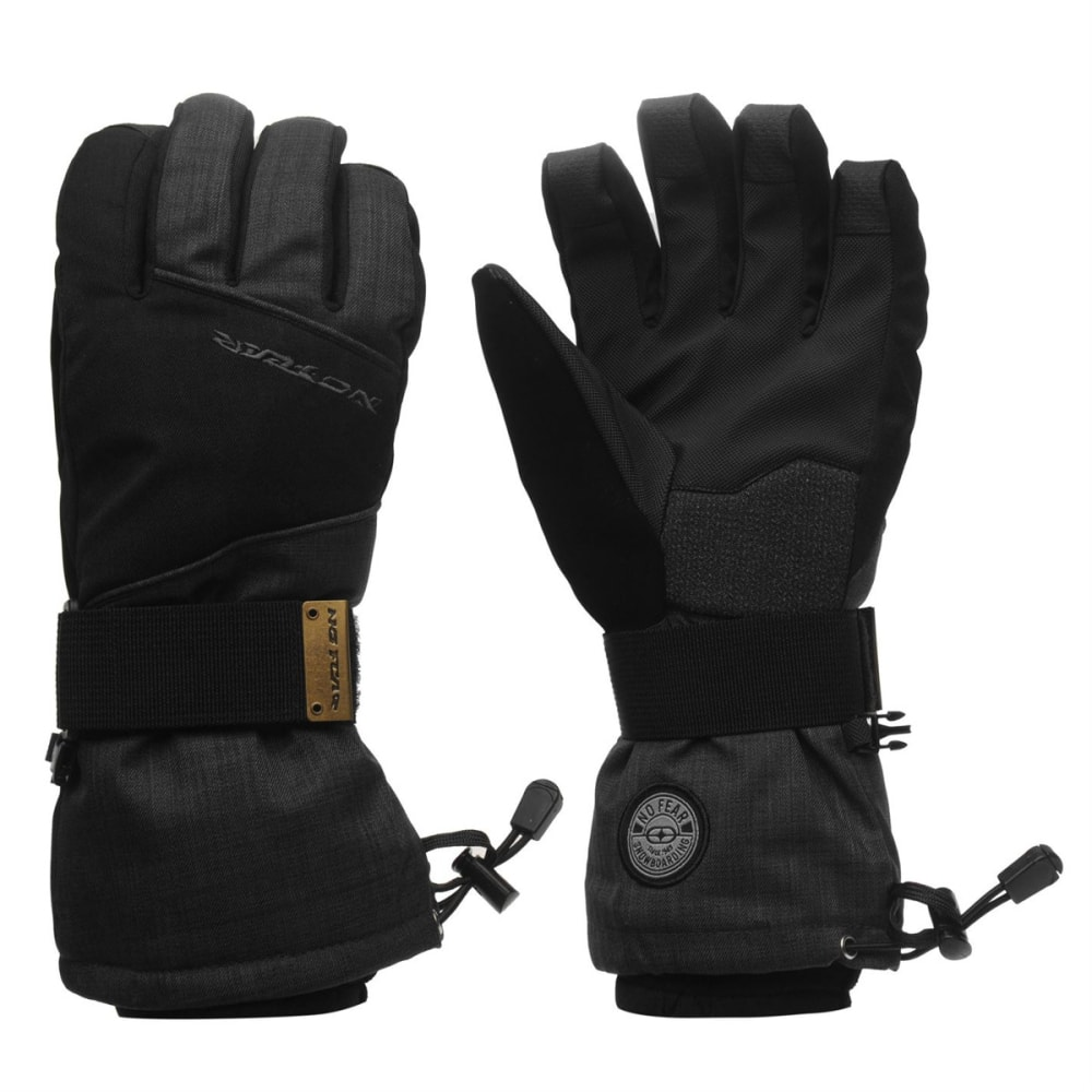 NO FEAR Men's Boost Ski Gloves - BLACK
