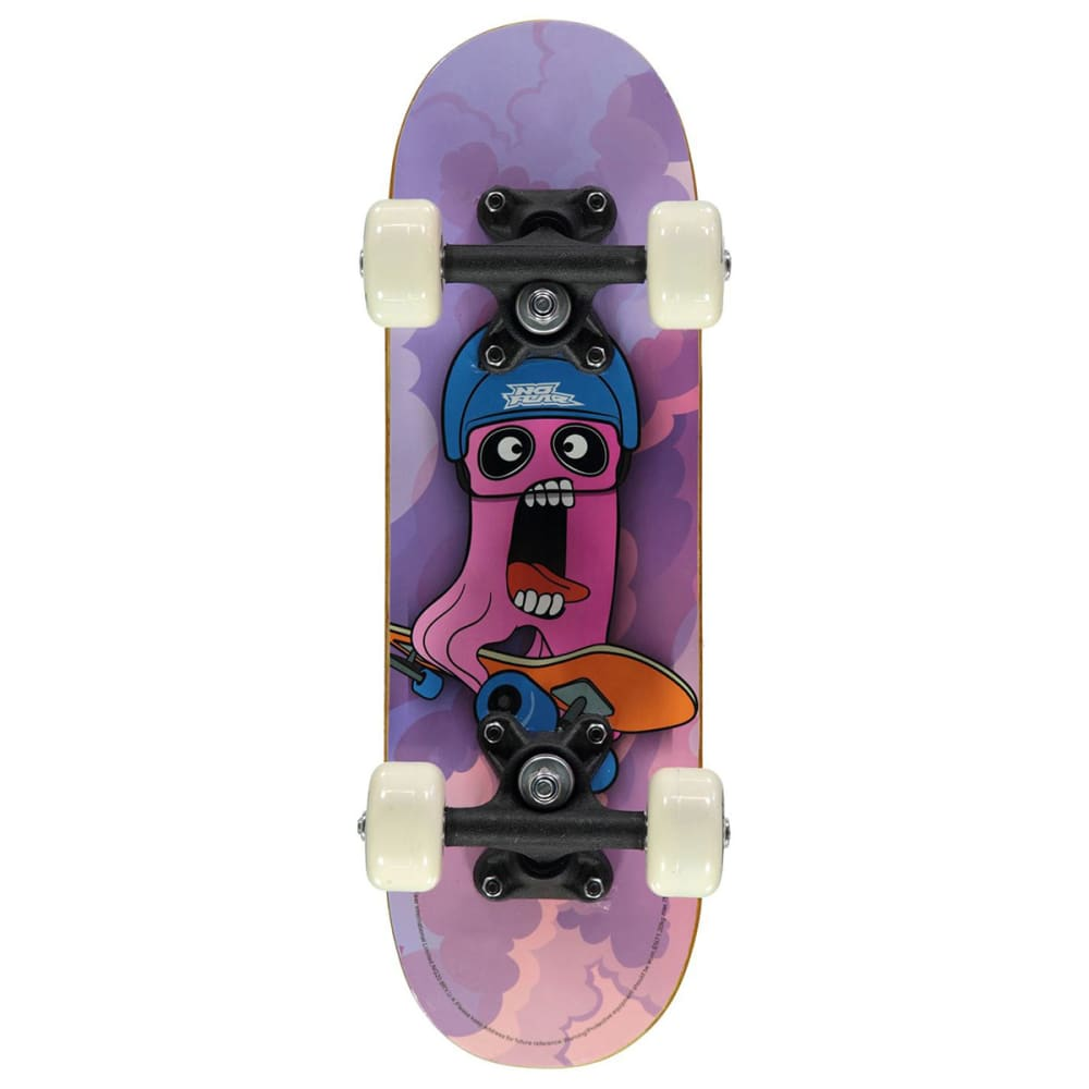 NO FEAR Micro Junior Skateboard - Purple Cyclops