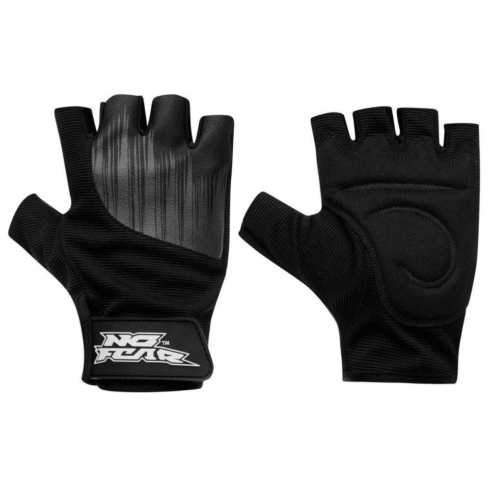 NO FEAR Men's Skate Gloves - BLACK