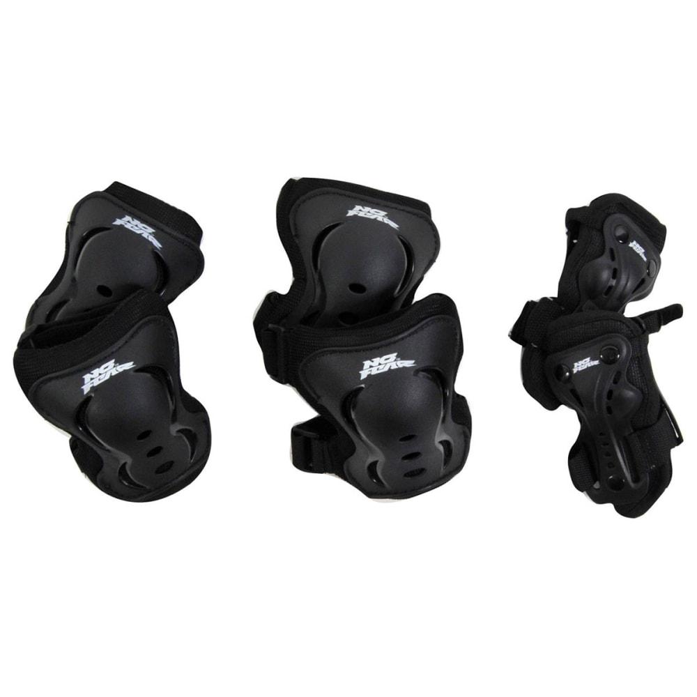 NO FEAR Skate Protection Set, 3 pack - BLACK
