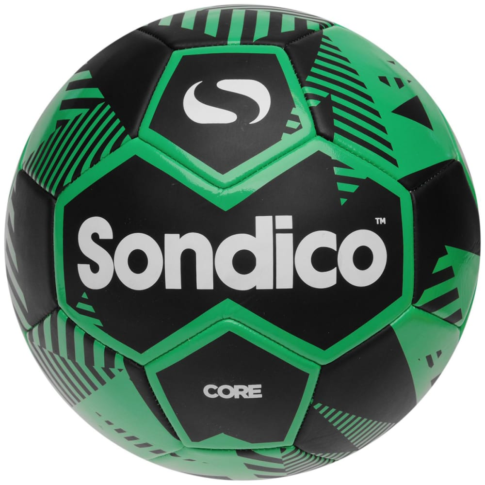 SONDICO Core XT Soccer Ball - BLACK/GREEN