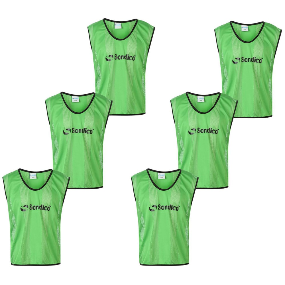 SONDICO Mesh Bibs, 6-Pack - Fluo Green