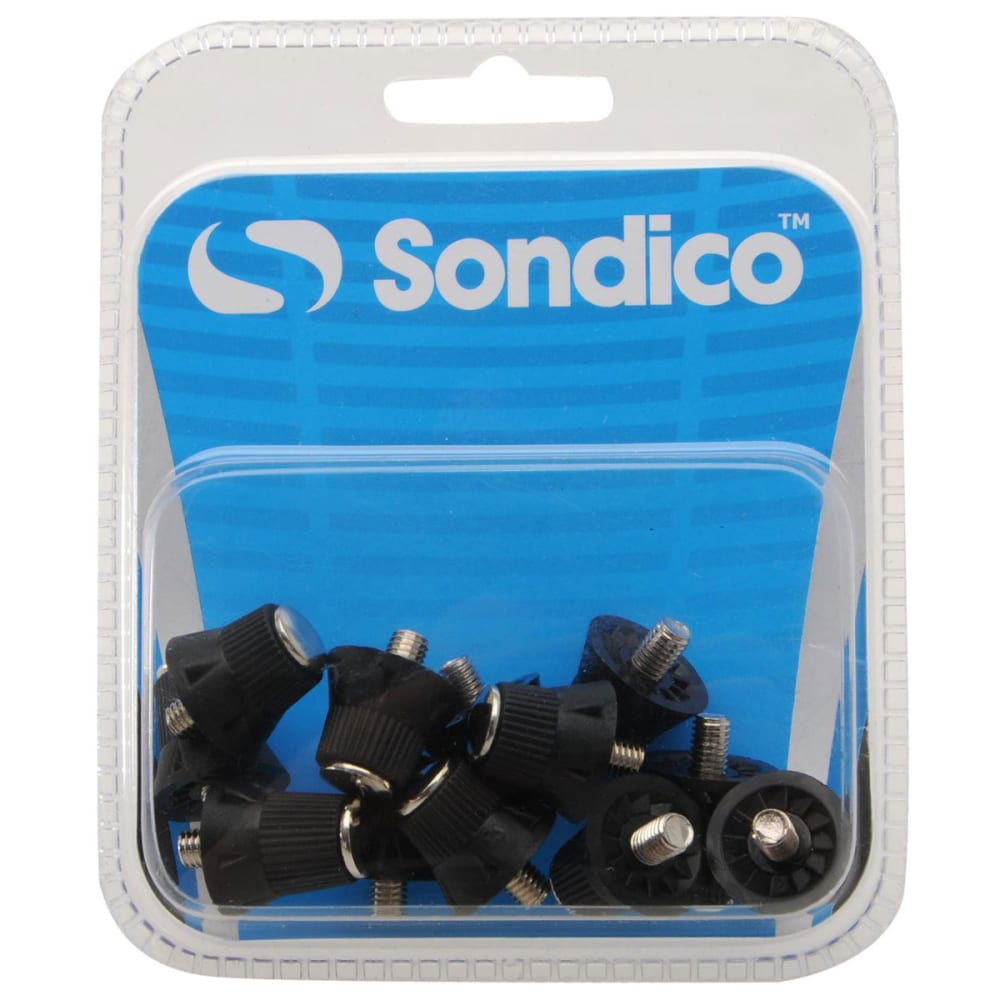 SONDICO Pro Alloy Tipp Soccer Cleat Studs - BLACK/WHITE